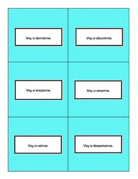 Reflexive Verbs and Commands Speaking Activity