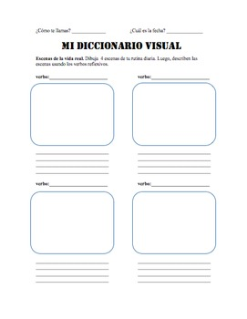 Reflexive Verbs and Daily Routine: My Visual Dictionary