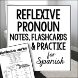 Reflexive Verbs and Pronouns Spanish Doodle Pages Worksheets, Notes & Flashcards