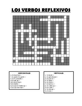Reflexive Verbs - crossword