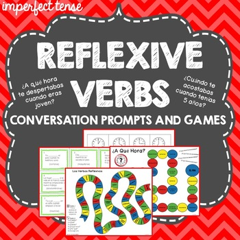 Spanish Reflexive Verbs, Imperfect Tense, Conversation Games, Question Words