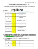 Reflexive Verbs in Spanish Notes