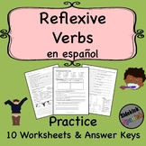 Reflexive Verbs in Spanish Practice Worksheets