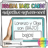 Spanish Adjective Agreement Digital Task Cards | BOOM Card