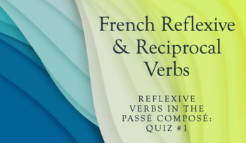 Reflexive Verbs in the Passé Composé : QUIZ