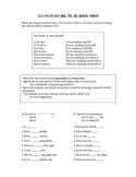 Reflexive Verbs worksheet