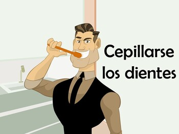 Reflexive Verbs/Daily Routine in Spanish (90 Slide Power Point)