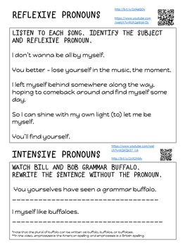 Reflexive and Intensive Pronouns L.6.1b