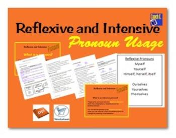 Reflexive and Intensive Pronouns/ Pronoun Worksheet