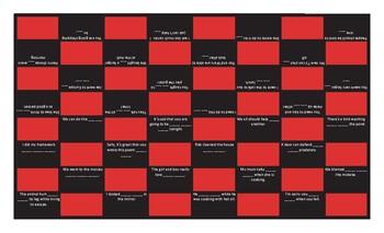 Reflexive and Reciprocal Pronouns Checker Board Game