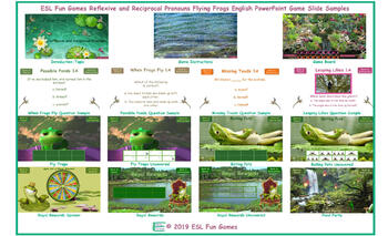 Reflexive and Reciprocal Pronouns Flying Frogs English PowerPoint Game