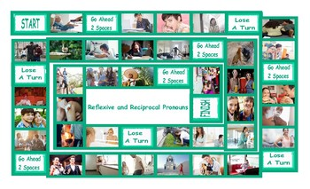 Reflexive and Reciprocal Pronouns Legal Size Photo Board Game