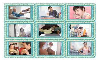 Reflexive and Reciprocal Pronouns Legal Size Photo Card Game