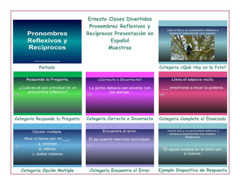 Reflexive and Reciprocal Pronouns Spanish PowerPoint Presentation