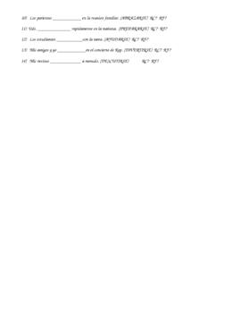Reflexive or Reciprocal?  Verb Practice exercises