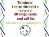 Reflexive / reciprocal verbs in Italian I verbi riflessivi BINGO  Tombola