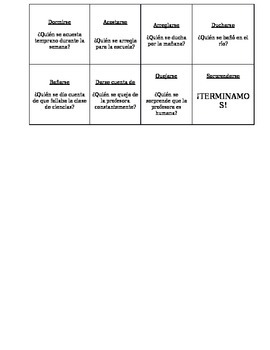 Reflexive verb chain game