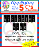 Reflexive verb practice (for Spanish 1 or review material in Spanish 2)