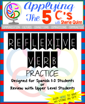 Reflexive verb practice (for Spanish 1 or review material
