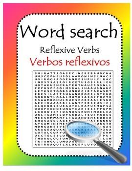 Reflexive verbs- Reflexivos - Word search