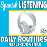 Reflexive verbs in Spanish listening practice (distance learning)