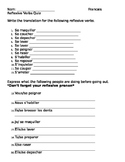 Reflexive verbs practice/quiz