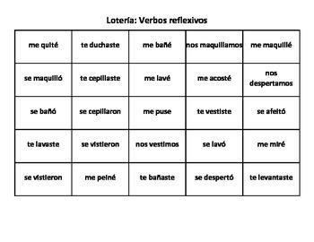 Reflexive verbs (preterit)