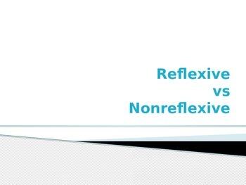 Reflexive vs Non Reflexive (upper level Spanish)