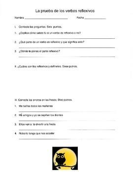 Reflexives Verb Quiz