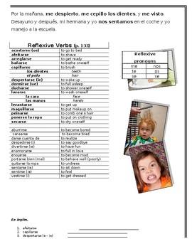Reflexive Verbs Practice Packet