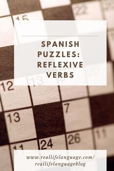 Reflexives for Daily Routines Word Puzzles