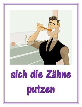 Reflexivverben (German Reflexive verbs) Posters