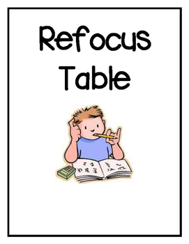 Refocus Table Sign and Whole Brain Teaching Rule Reminder