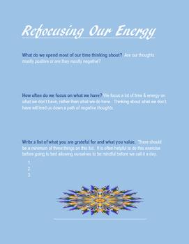Refocusing Our Energy Worksheet
