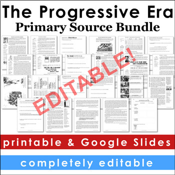 Progressive Era Primary Source Activities
