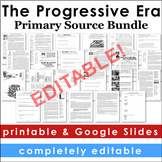 Progressive Era Primary Source Activities Bundle