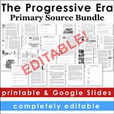 Progressive Era Primary Source Activities