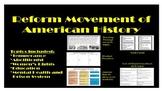 Reform Movement Activity Bundle