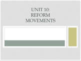 Reform Movement Powerpoint