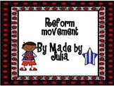 Reform Movement Scoot!- Great for GA Milestone