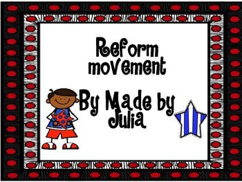 Reform Movement Scoot!- Great for GA Milestone