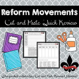 Reform Movements Cut and Paste Review (set of 2)--NO PREP