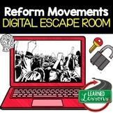 Reform Movements Digital Escape Room, Reform Movements Breakout Room