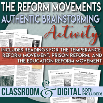 Reform Movements - Temperance, Education, Mental Illness, and Prison Reform