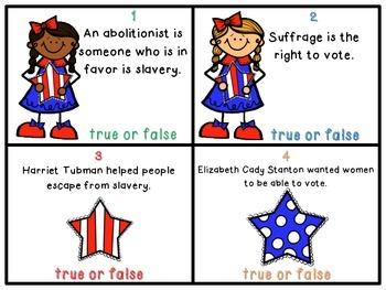 Reform Movements True or False Task Cards