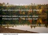 Reform Movements of the 1800's - Origins