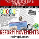 Reform Movements of the Progressive Era; Distance Learning