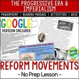 Reform Movements of the Progressive Era; Distance Learning
