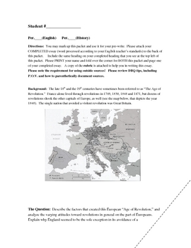 Reform vs. Revolution in Early 19th Century Europe DBQ