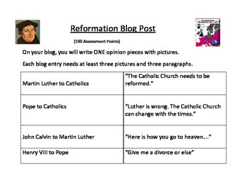 Reformation Blog Post (Activity)